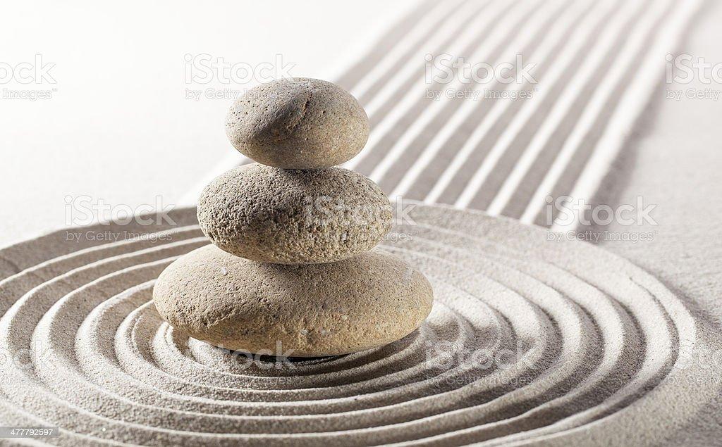 zen harmony for inner beauty royalty-free stock photo