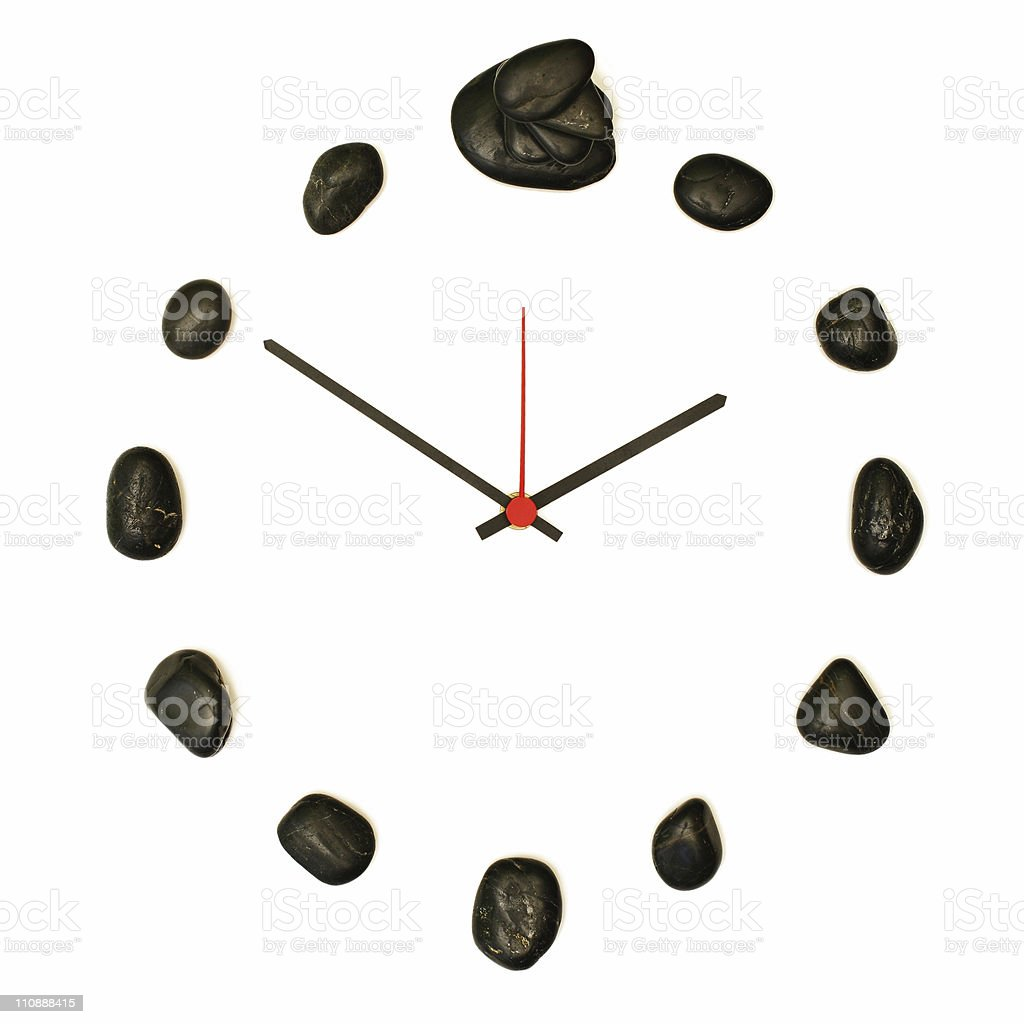 Zen like clock [stack] royalty-free stock photo