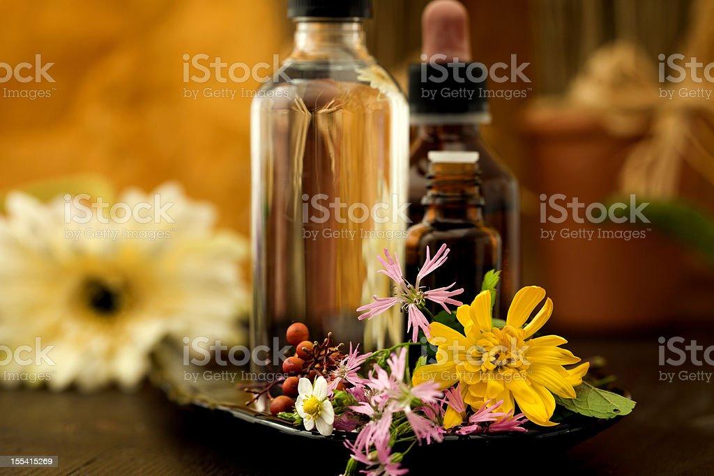 Bottle for oil massage in Zen spa