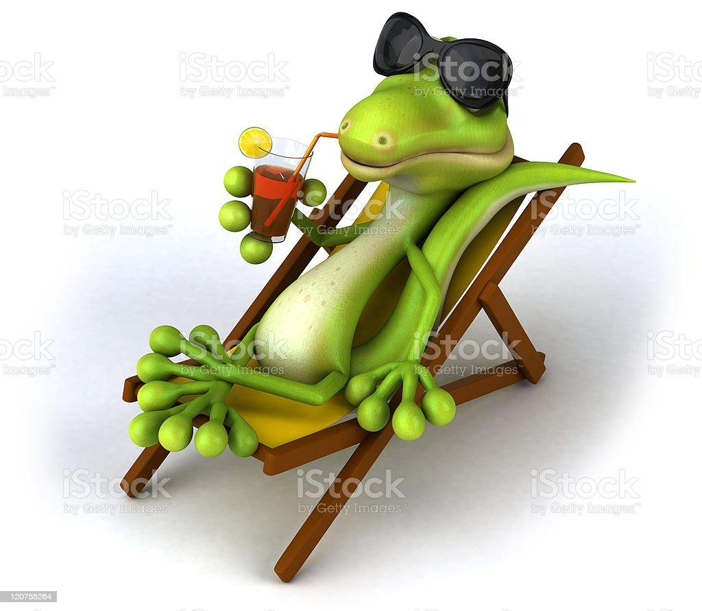 Zen lizard royalty-free stock photo