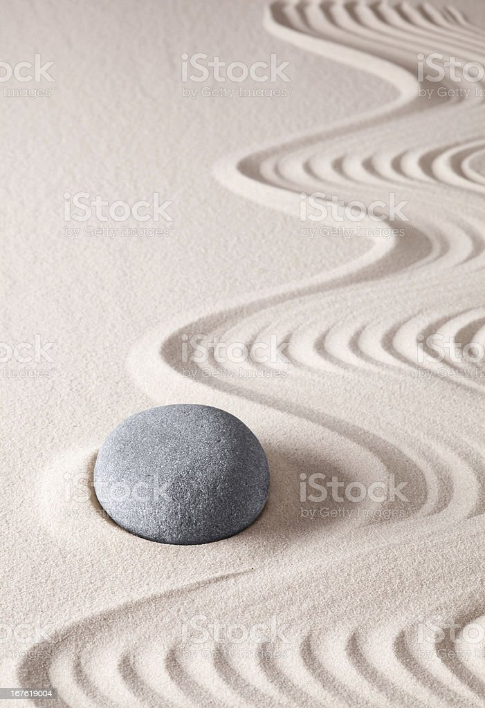 zen meditation stone stock photo