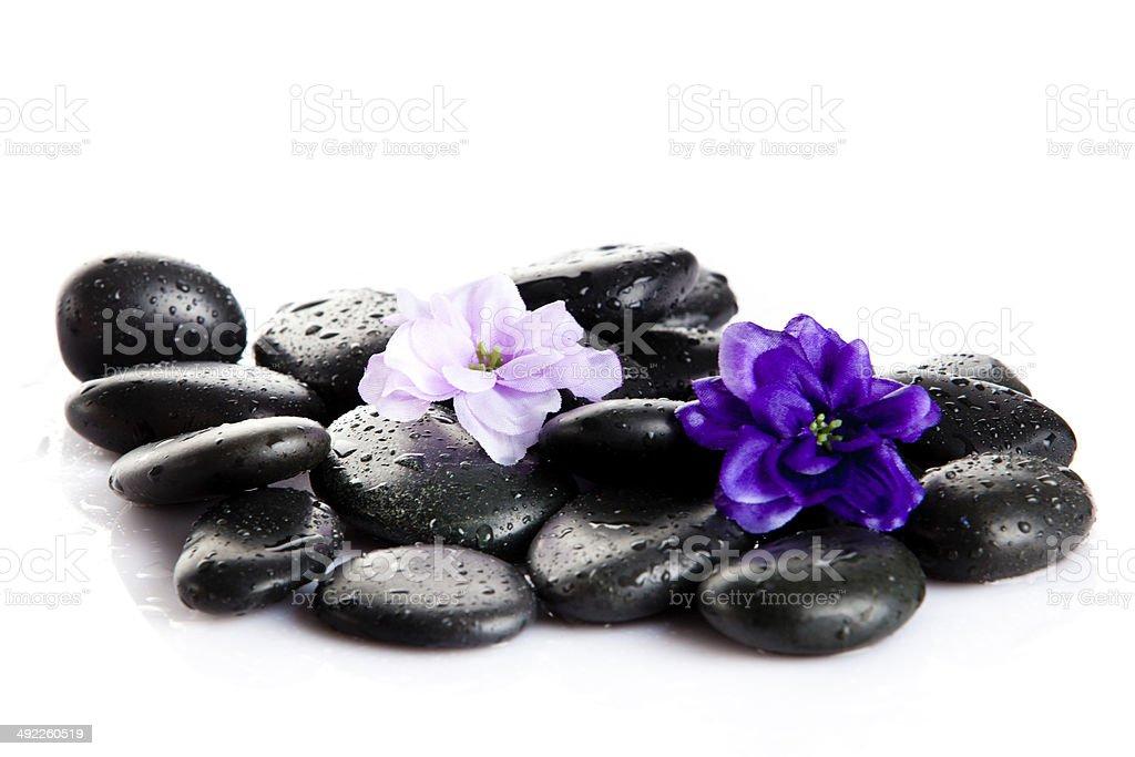 Zen pebbles. Stone spa royalty-free stock photo