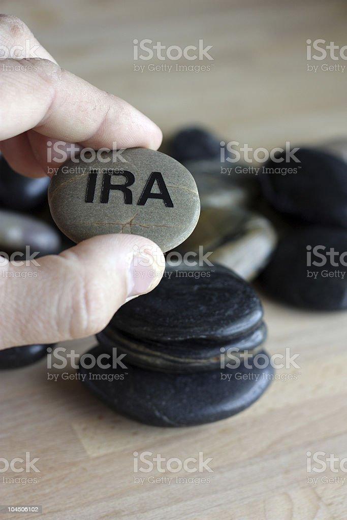 IRA Zen royalty-free stock photo