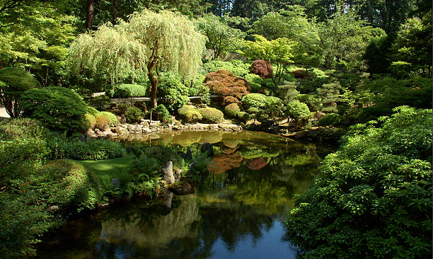 """zen """" - japanischer garten stock-fotos und bilder"""