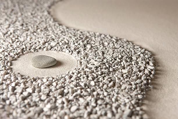 Zen rock stock photo