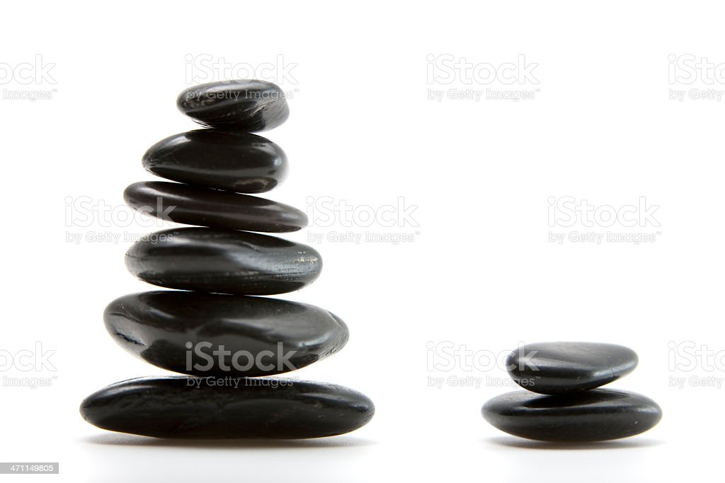 Zen Stack of Pebbles royalty-free stock photo