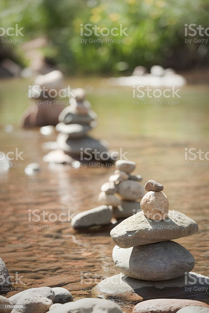 Zen Stone at Red Rock State Park Buddha Beach, Sedona royalty-free stock photo