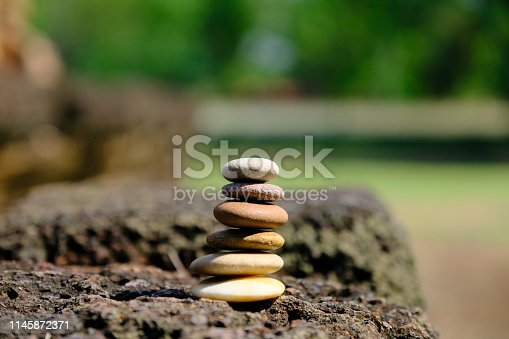istock Zen stone at the ancient Cambodian ruins castle 1145872371