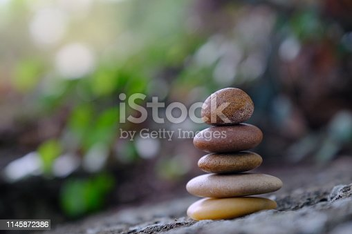 istock Zen stone at the ancient Cambodian ruins castle 1145872386