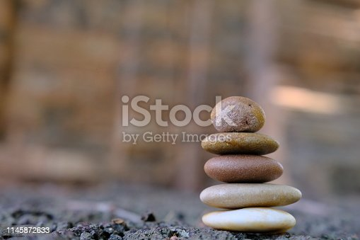 istock Zen stone at the ancient Cambodian ruins castle 1145872633