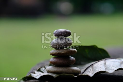 istock Zen stone at the ancient Cambodian ruins castle 1145872842