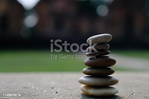 istock Zen stone at the ancient Cambodian ruins castle 1145873019