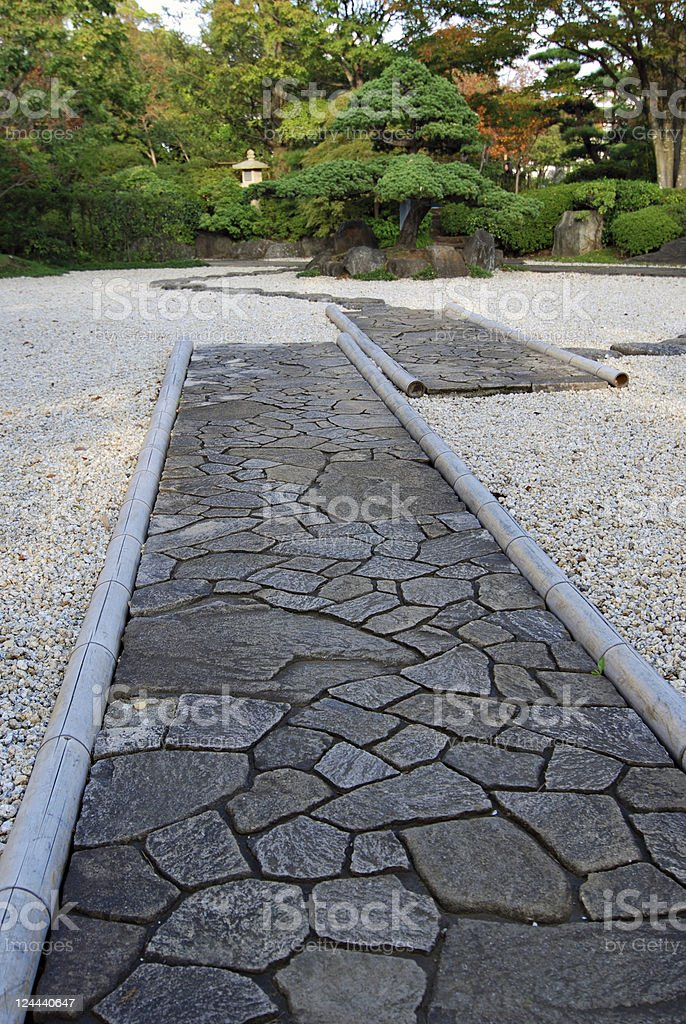 zen stone garden royalty-free stock photo