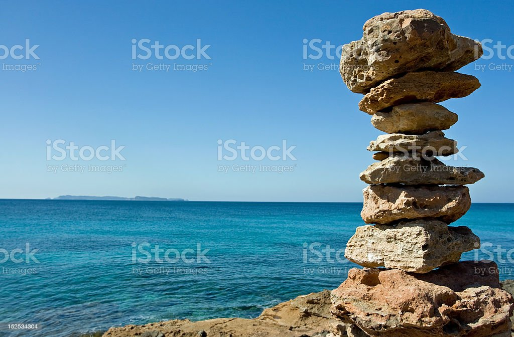 Zen stone pyramid royalty-free stock photo