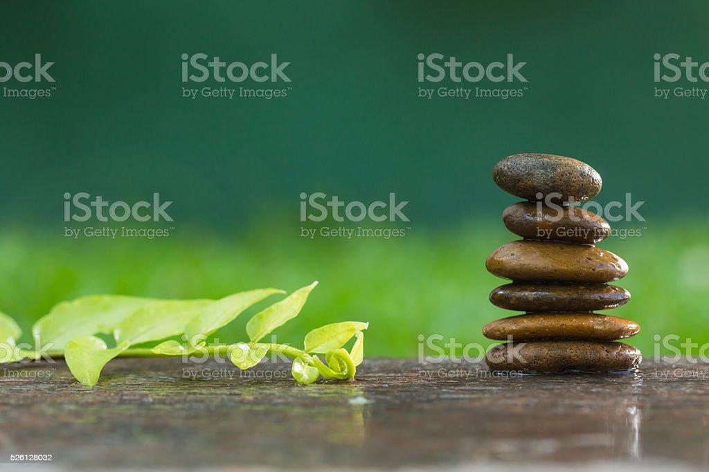 Zen stone with spa stock photo