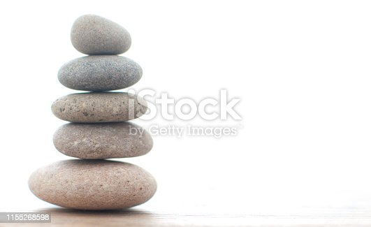 Zen yoga spa stones balanced on one another