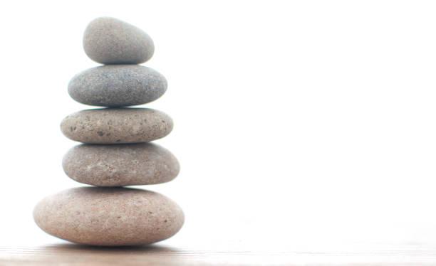 Zen stones background stock photo