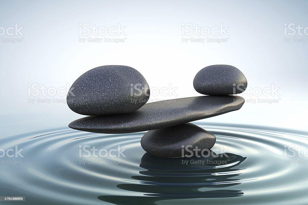 zen piedras equilibrio foto de stock libre de derechos - Piedras Zen