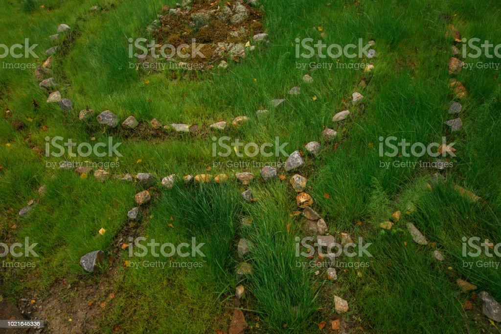 Zen Steinen Im Grunen Rasen Garten Stockfoto Und Mehr Bilder
