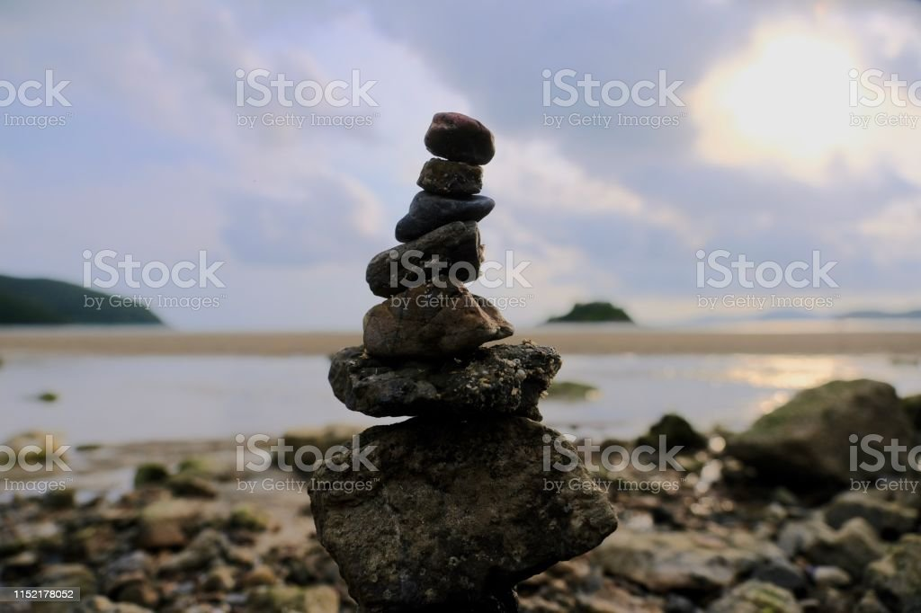 Zen Stones Is A Symbol Of Balance And Meditation Stock Photo