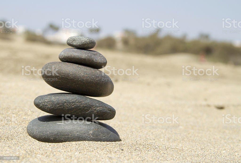 Zen stones stock photo