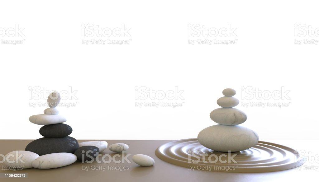 Zen stones ,zen like concepts for perfect meditation on white...