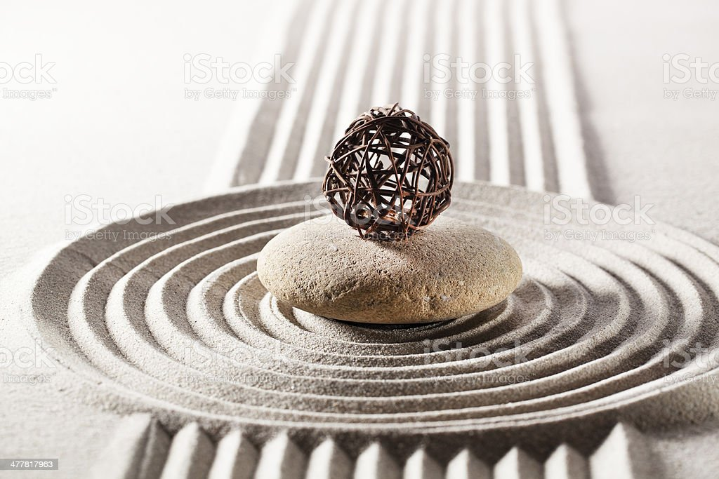 zen symbol of steadiness royalty-free stock photo