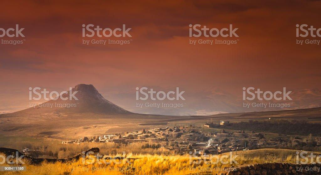 Zendan-e Soleyman volcano in Iran stock photo