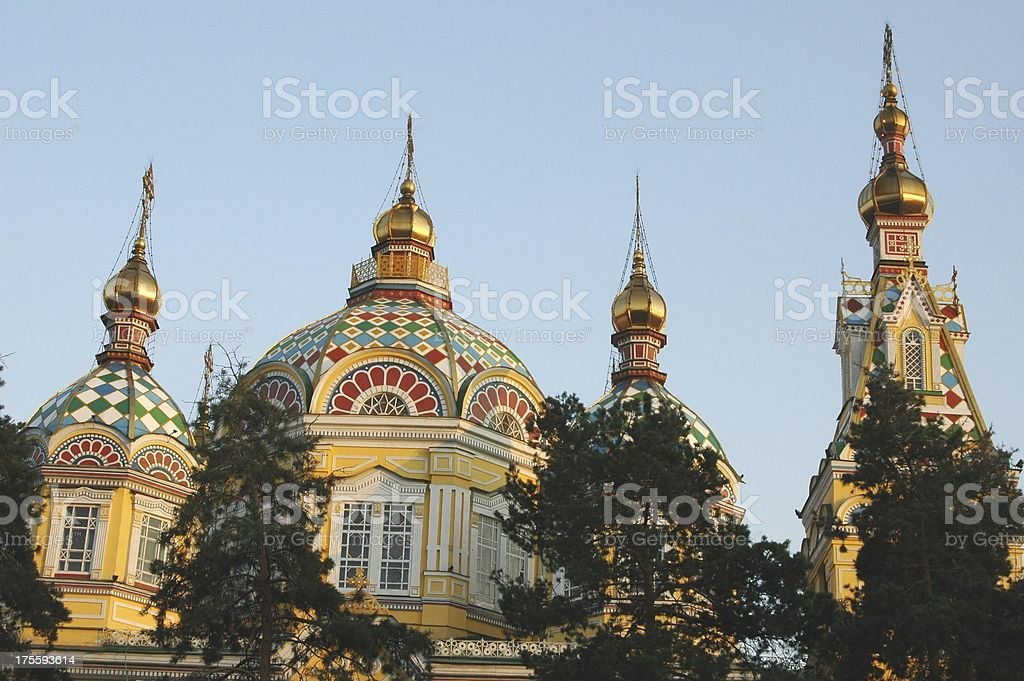 Zenkov Cathedral in Almaty stock photo