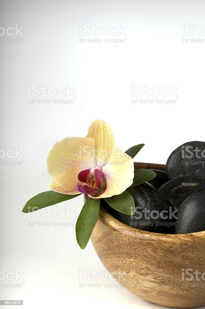 Zen scena con fiore foto stock royalty-free