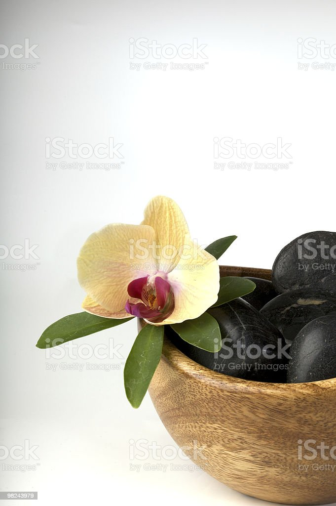 Zen-like scene with flower royalty-free stock photo