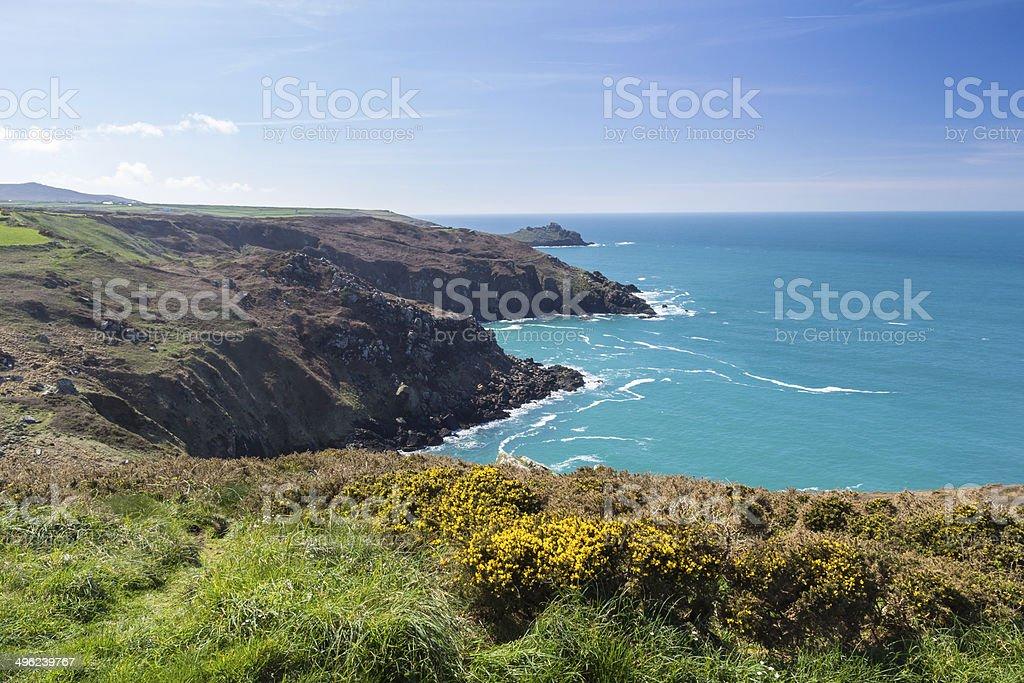Zennor Head Cornwall England royalty-free stock photo