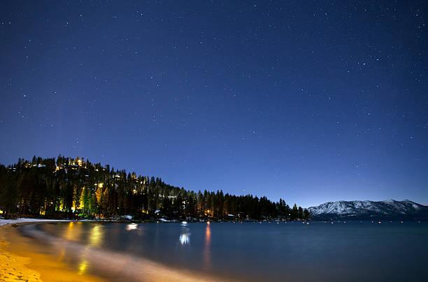 zephyr stars - lake tahoe winter stock-fotos und bilder