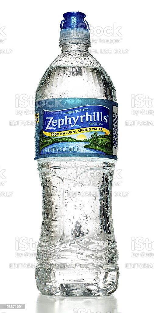 Zephyrhills Natural Spring Water Bottle Stock Photo - Download Image