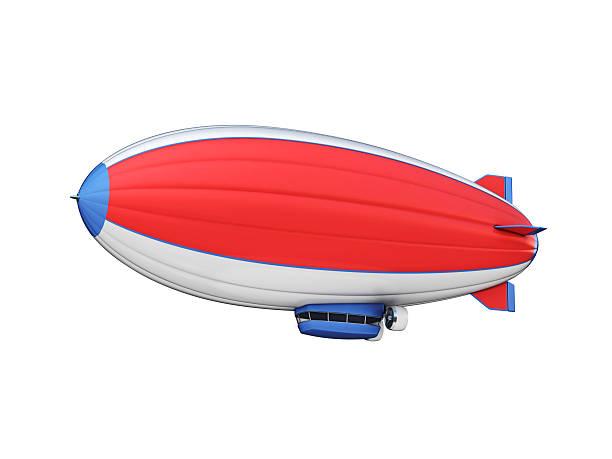 zeppelin 3d illustration stock photo