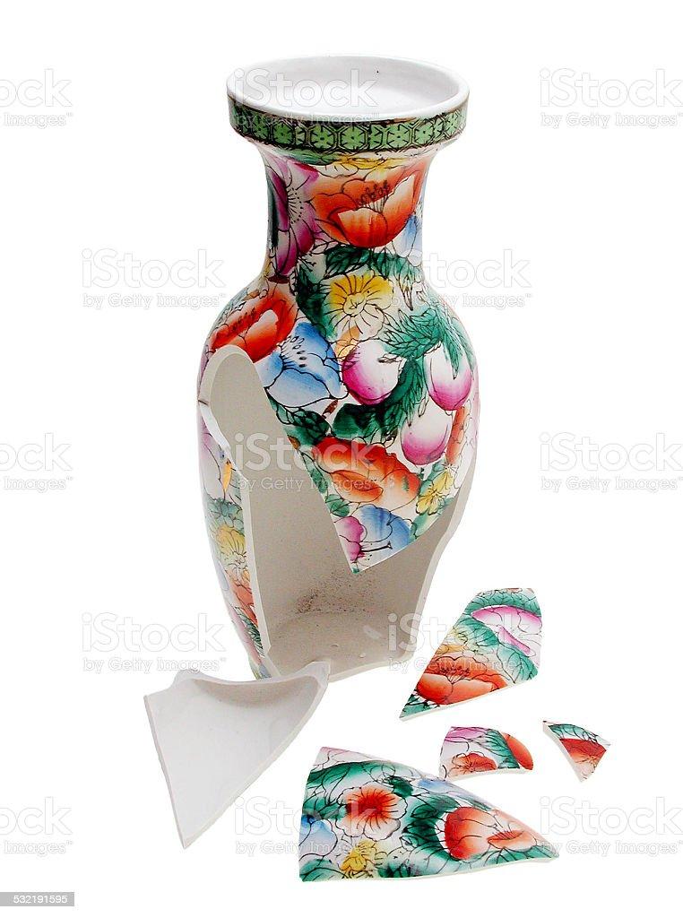 zerbrochene chinesische Vase stock photo