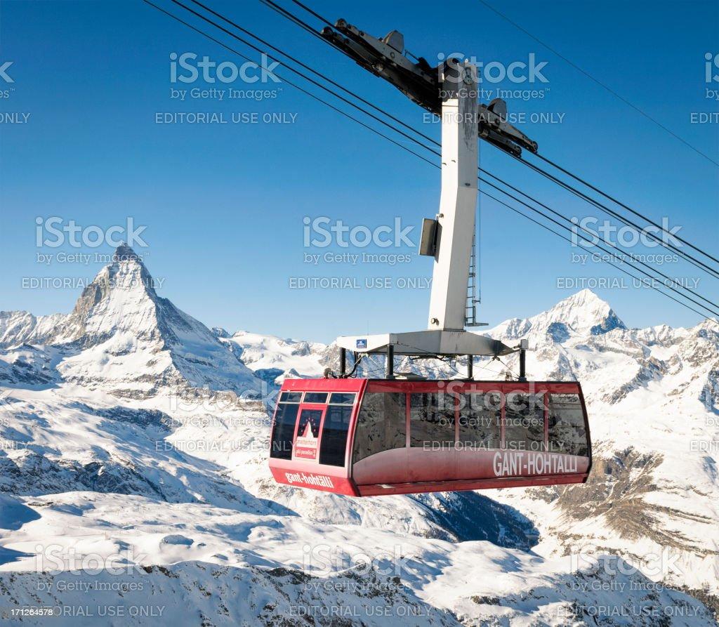 Zermatt Cable Car royalty-free stock photo