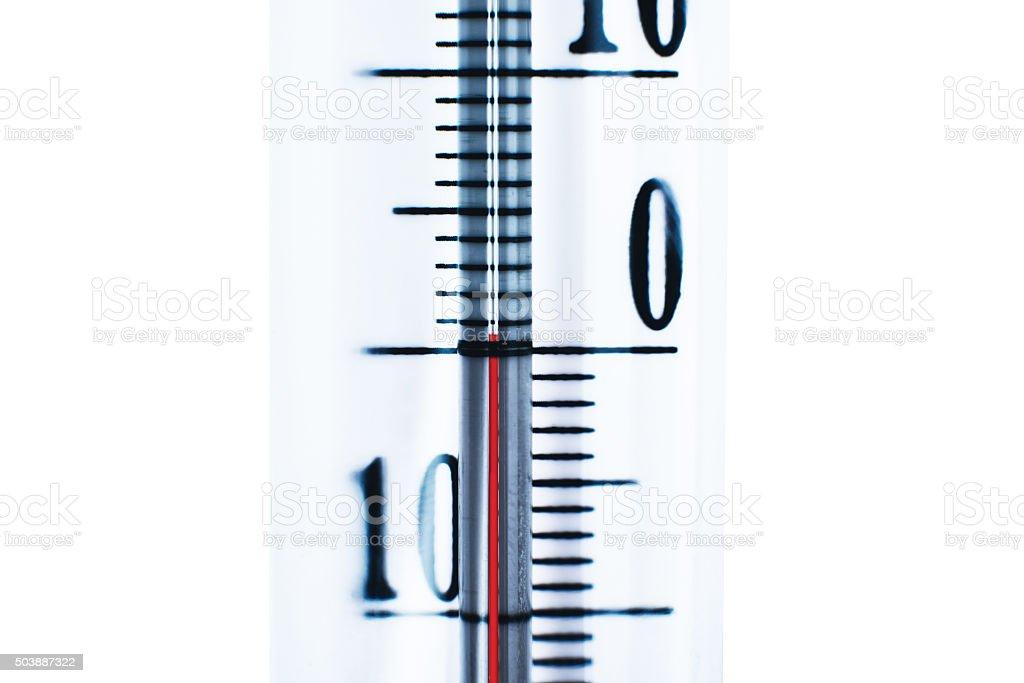 zero degrees Thermometer stock photo