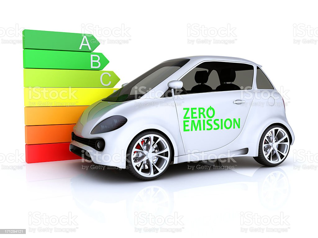 Zero Emission Car stock photo