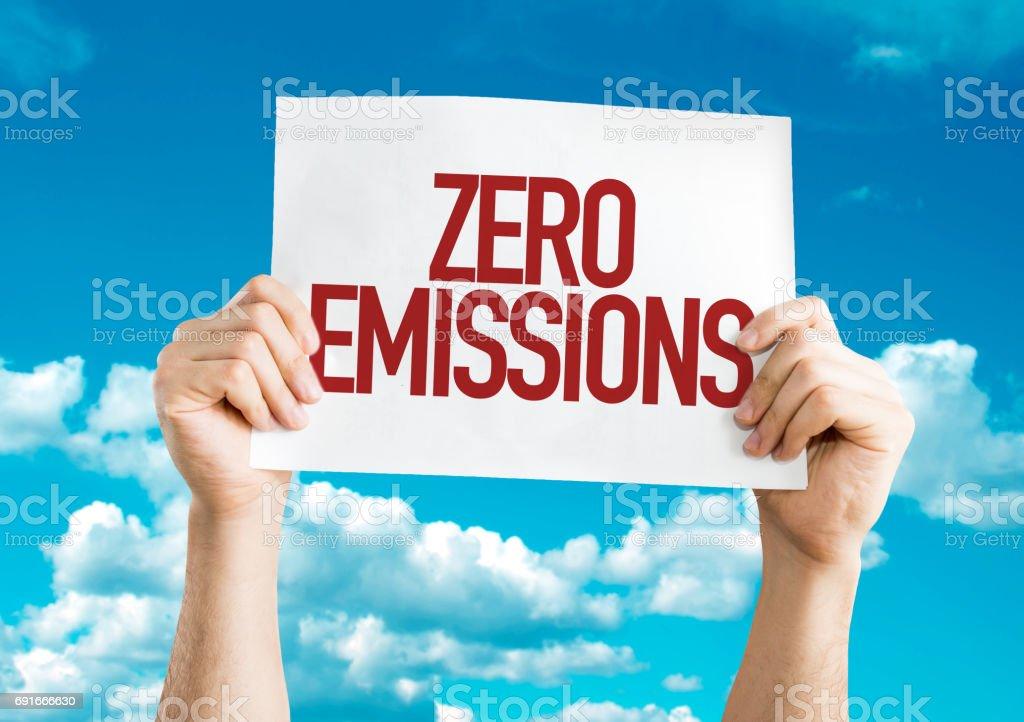 Cero emisiones - foto de stock