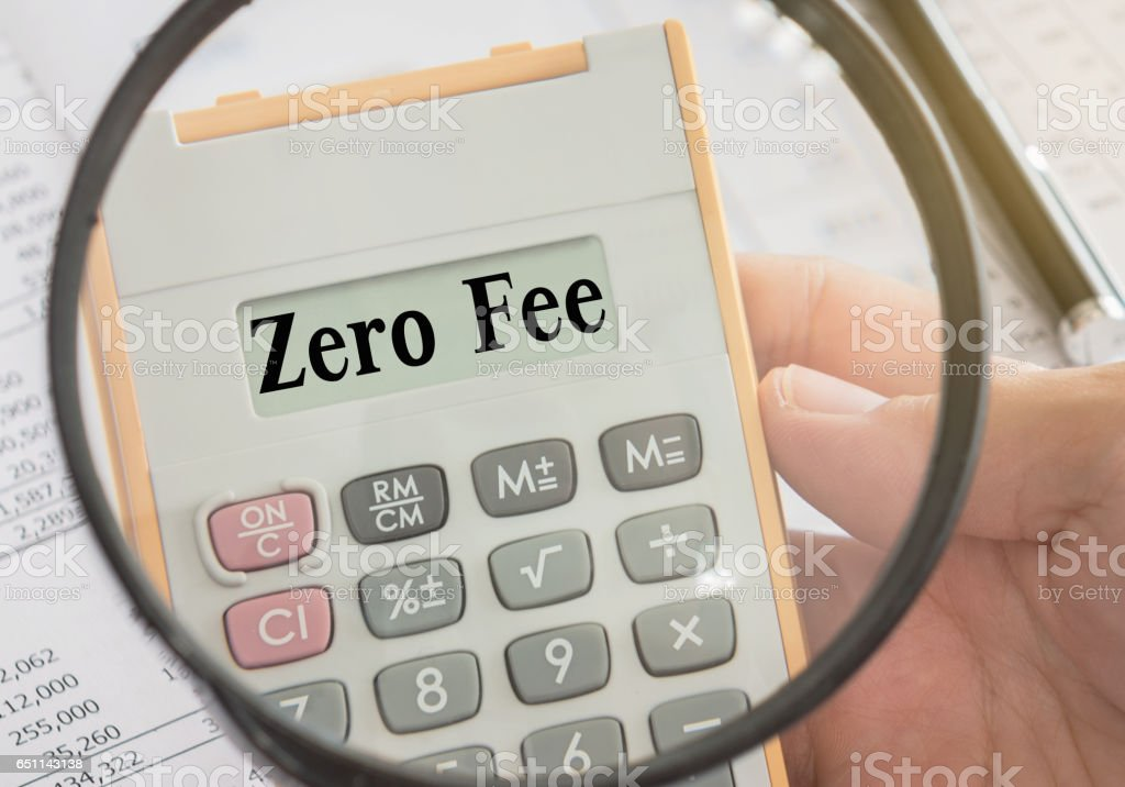 zero fee stock photo