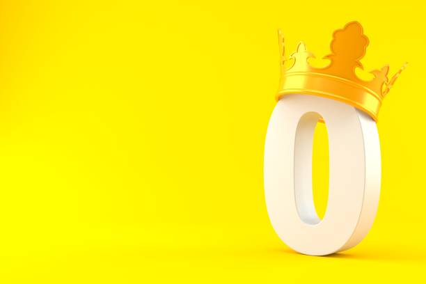 zero number with crown - zero stock pictures, royalty-free photos & images