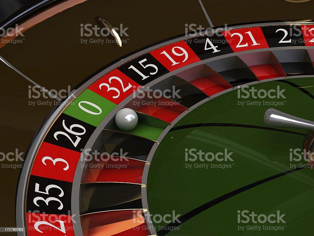 zero on a roulette royalty-free stock photo