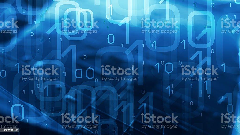 Zero one binary code abstract background stock photo