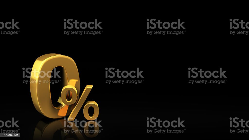 Zero percent black slide stock photo