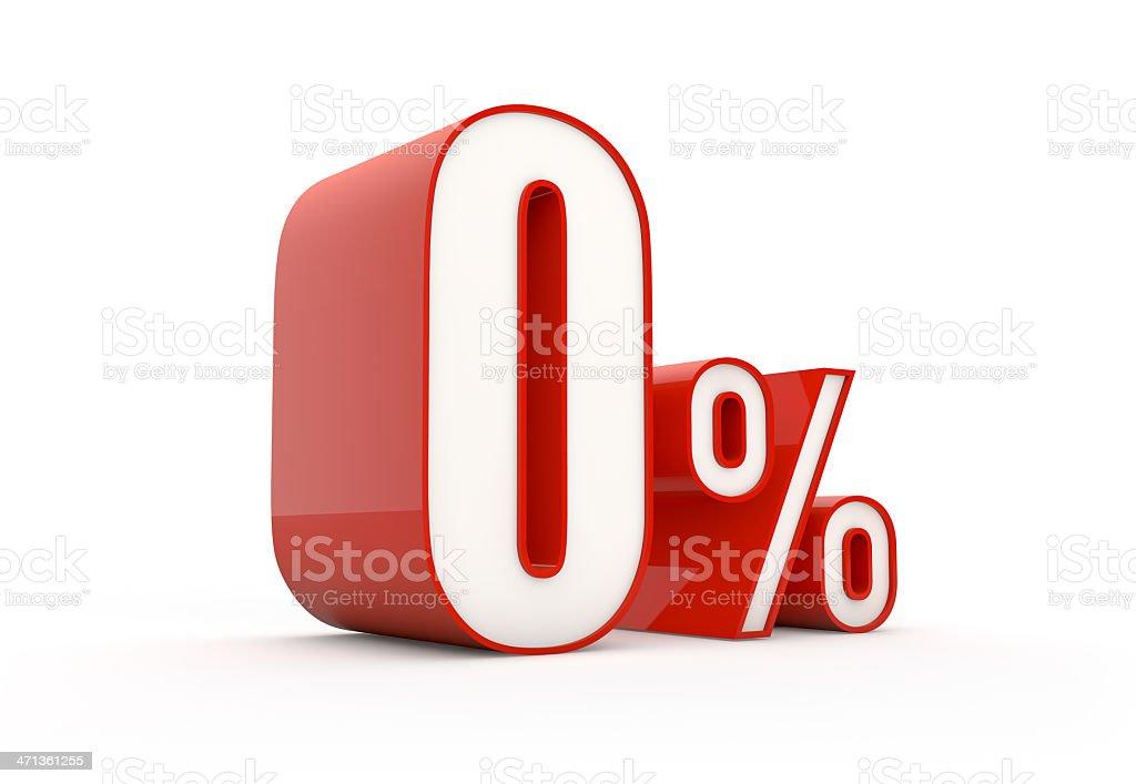 zero percent | sale series stock photo