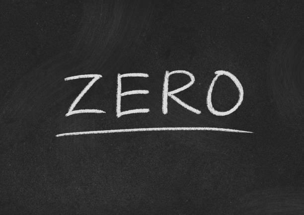 zero zero concept word on a blackboard background zero stock pictures, royalty-free photos & images