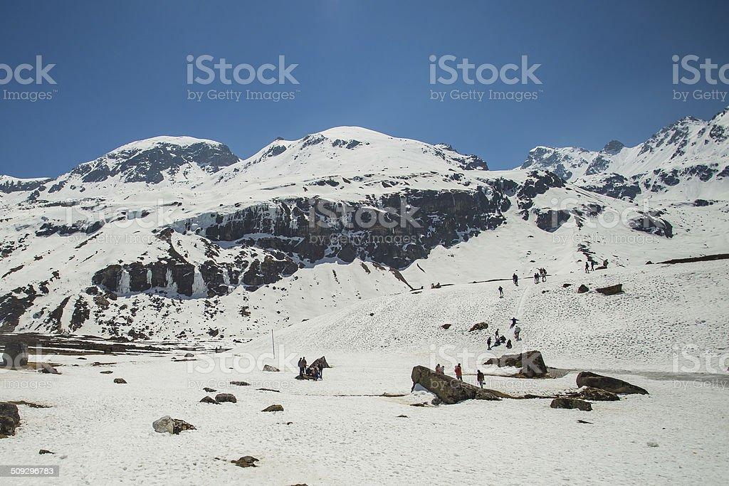 Zero Point in Sikkim,India stock photo