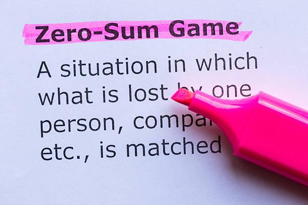 zero sum game stock photo