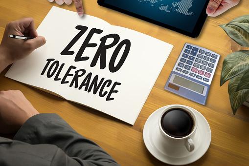 istock Zero Tolerance Toleration Indulgence Respect Tolerate 647593236